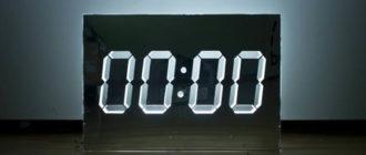 Зеркальные цифры на часах