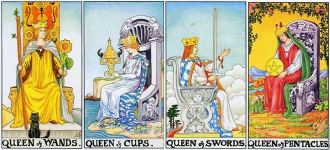 Трактовка Королевы Жезлов в сочетании с Мечами