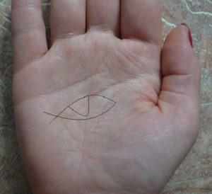 Знак ведьмы на ладони
