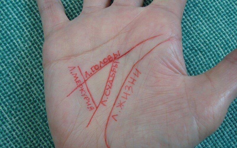 Треугольник на ладони